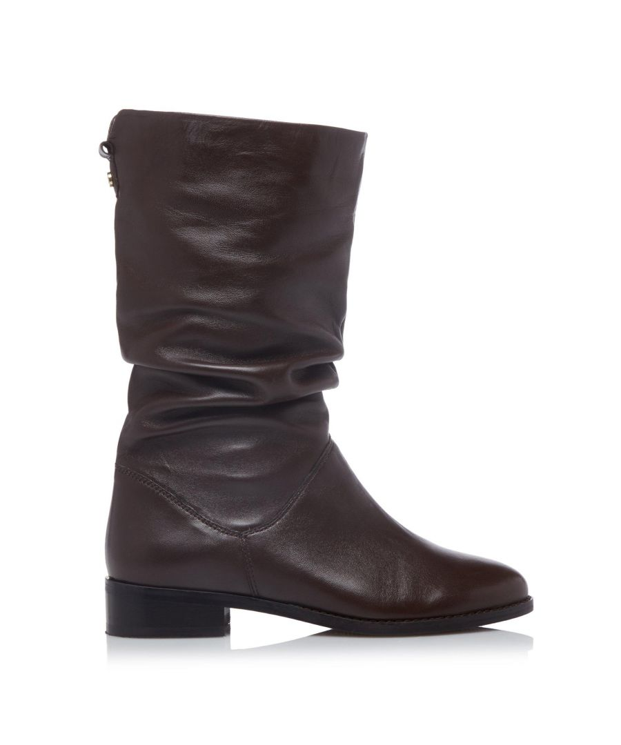 Image for Dune Ladies WF ROSALINDAS Wide Fit Ruched Calf Boots