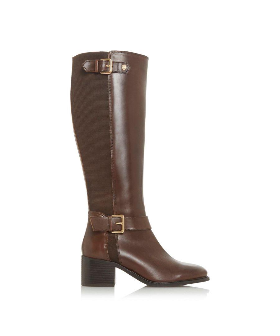Image for Dune Ladies WF TILDAA Wide Fit Block Heel Knee High Boots