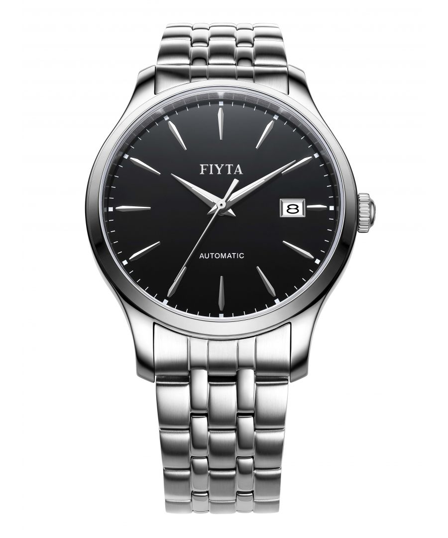 Image for Fiyta Mens Automatic Classic Watch Black Dial