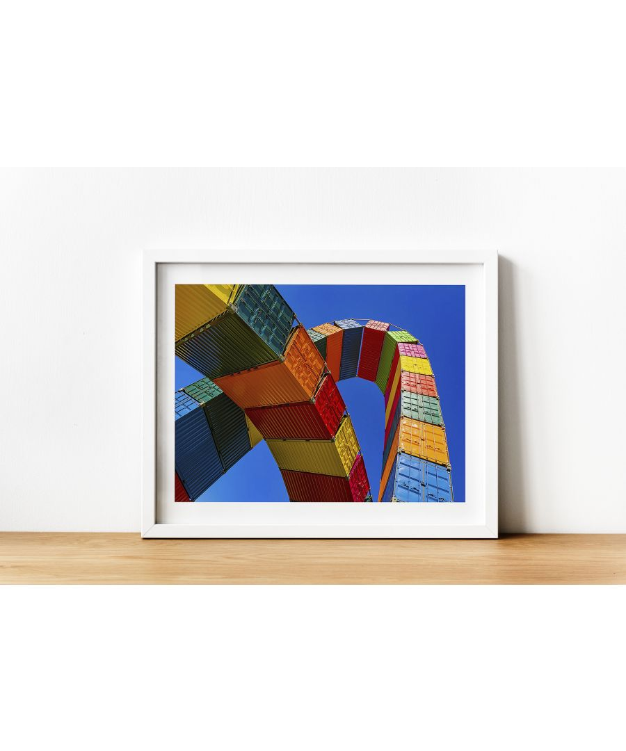 Image for Shipping Container Rainbow - White frame