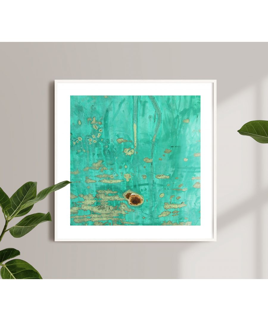 Image for Blue Painted Metal Surface - White frame