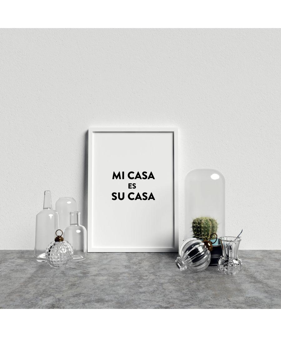 Image for Typography Mi Casa v4 Bl on W - White frame