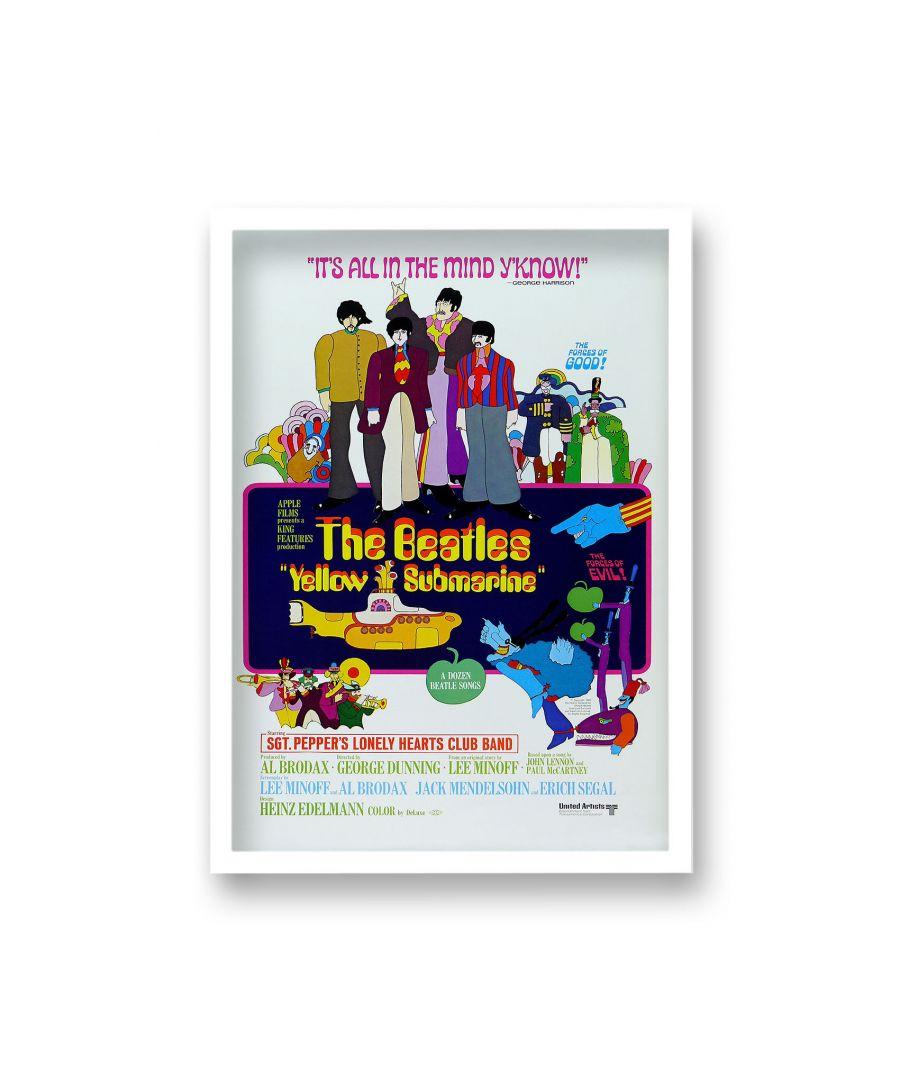 Image for Vintage Movie Print the Beatles Yellow Submarine - White Frame