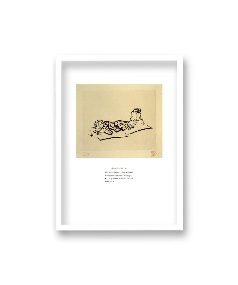 Image for John Lennon Personal Sketch Collection 3 Karuizawa '77 - White Frame