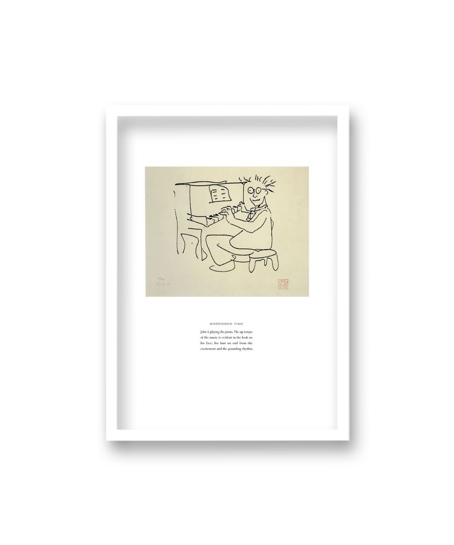 Image for John Lennon Personal Sketch Collection 10 Borrowed Time - White Frame