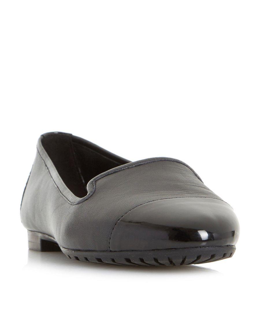 Image for Dune Ladies W GENEVEVE Wide Fit Toecap Detail Slipper Cut Shoe