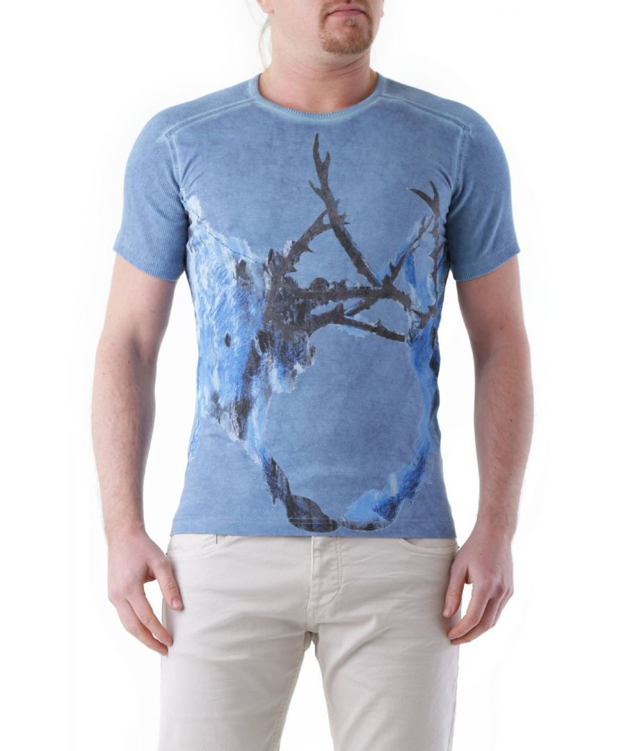 Image for Just Cavalli Men's T-Shirt In Blue