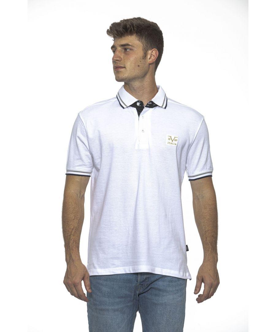 Image for 19V69 Italia Men's Polo In White
