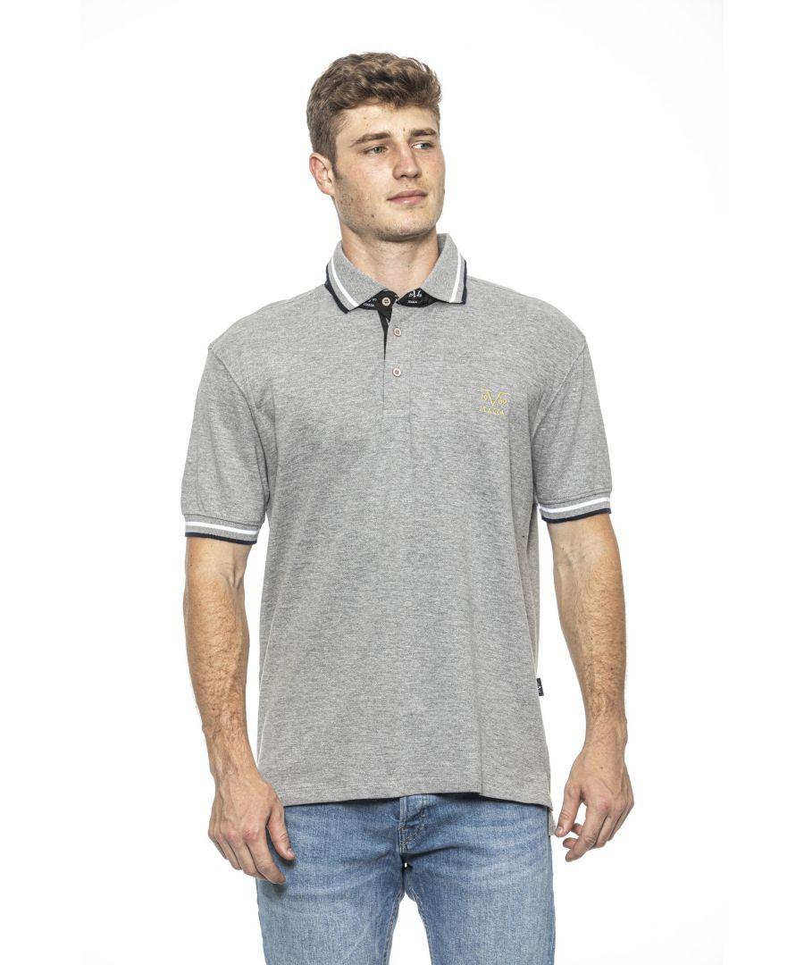 Image for 19V69 Italia Men's Polo In Grey