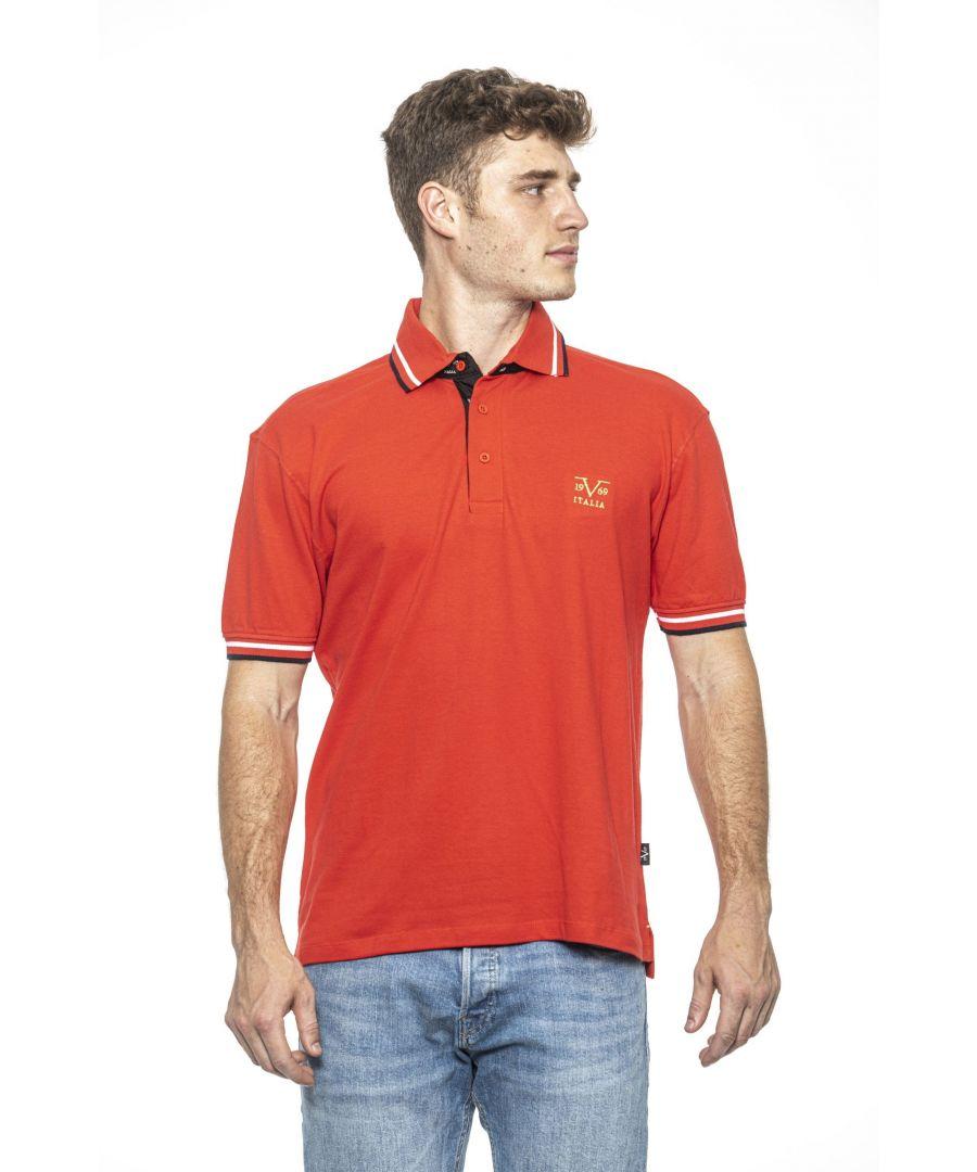 Image for 19V69 Italia Men's Polo In Red