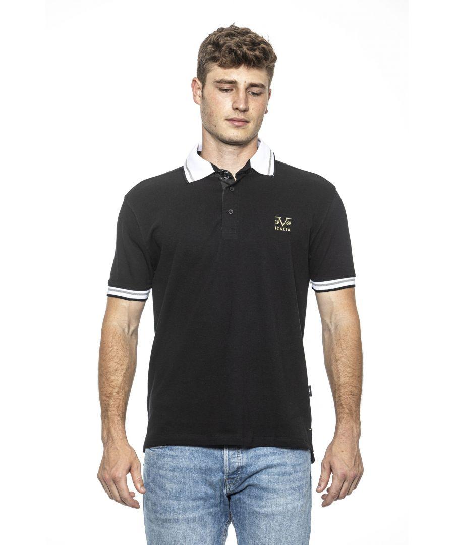 Image for 19V69 Italia Men's Polo In Black