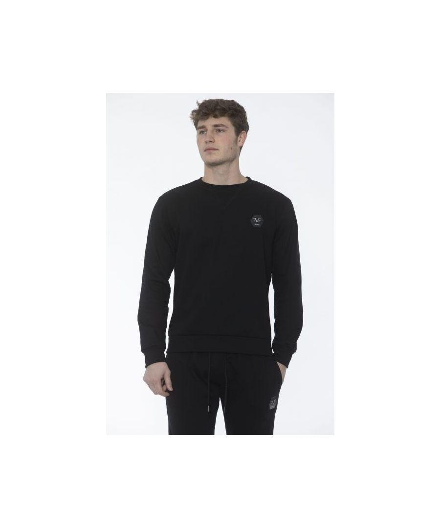 Image for 19V69 Italia Men's Sweatshirt In Black