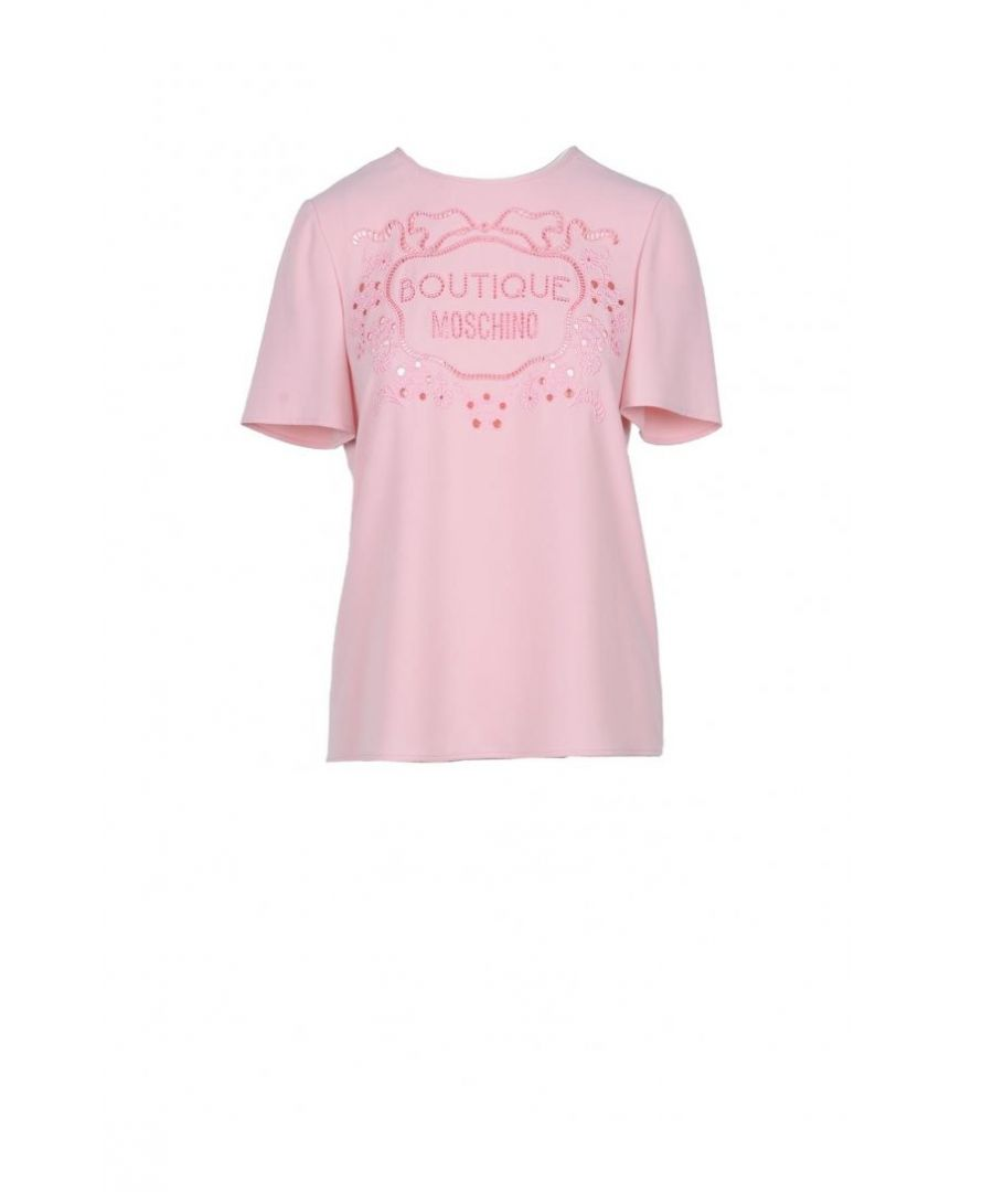 Image for Boutique Moschino Women's T-Shirt In Pink