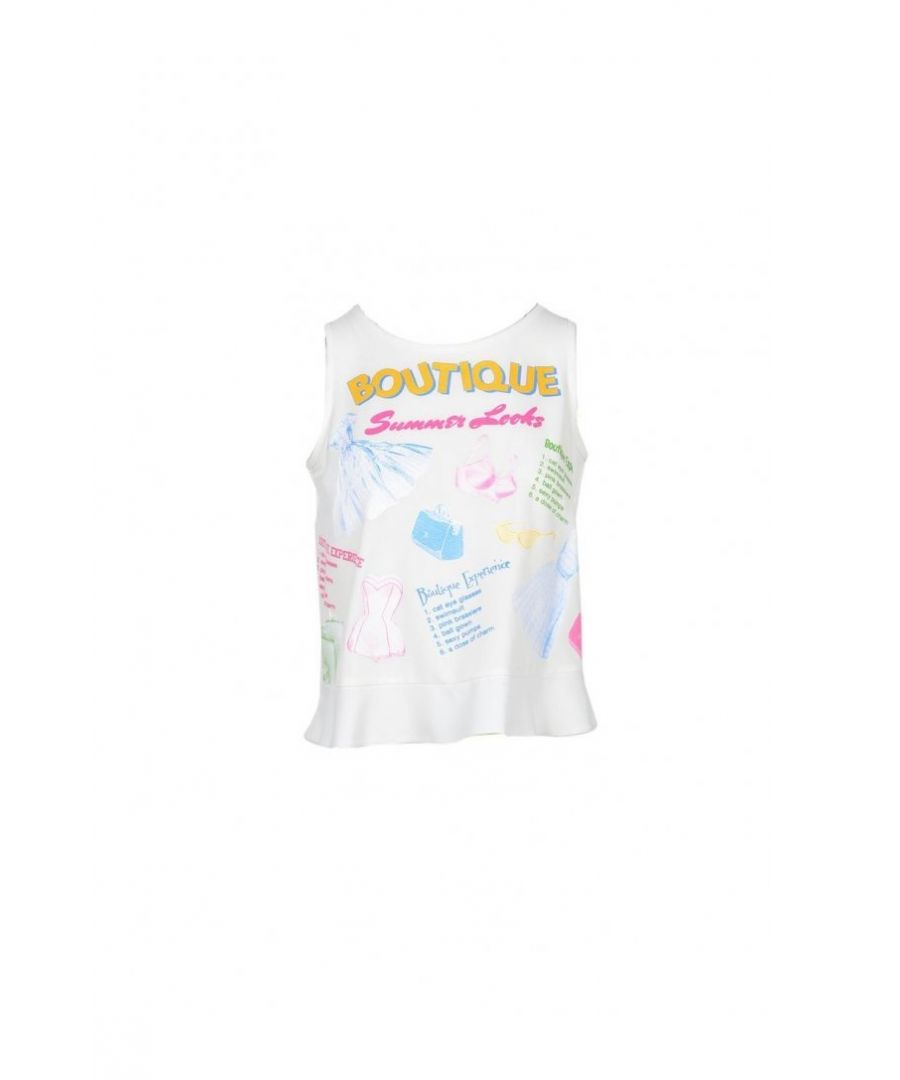 Image for Boutique Moschino Women's Top In White