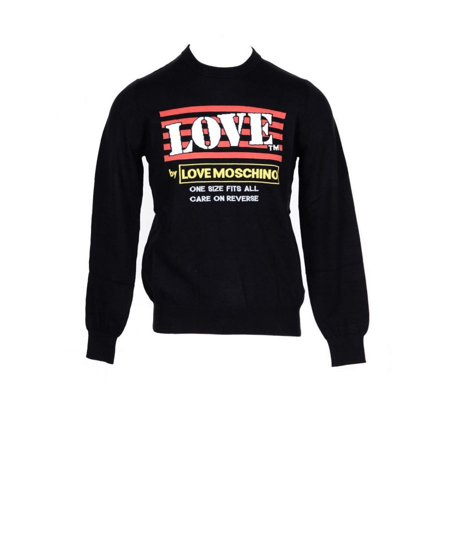 Image for Love Moschino Men's Sweatshirt In Black