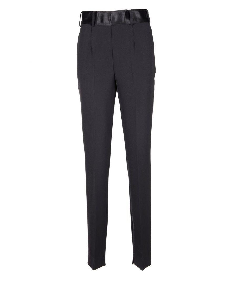 Image for Manila Grace Women's Trousers In Black