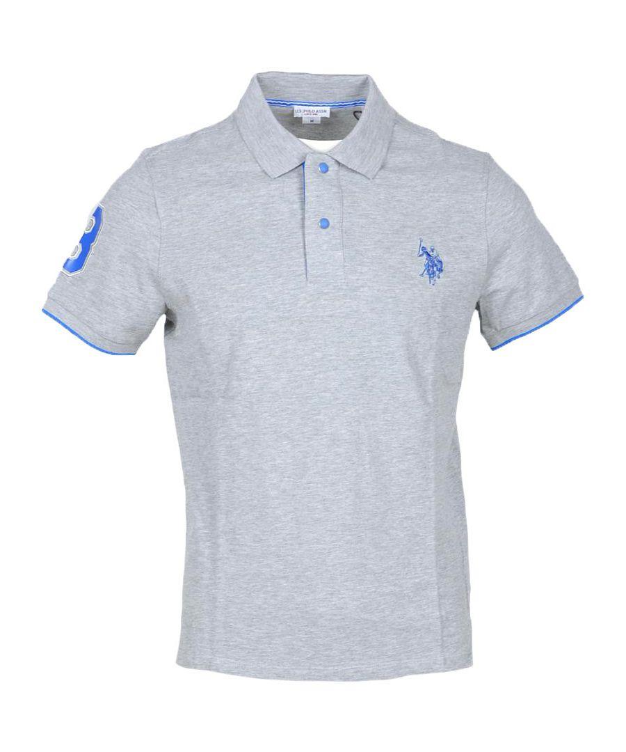 Image for U.S. Polo Assn. Men's Polo In Grey