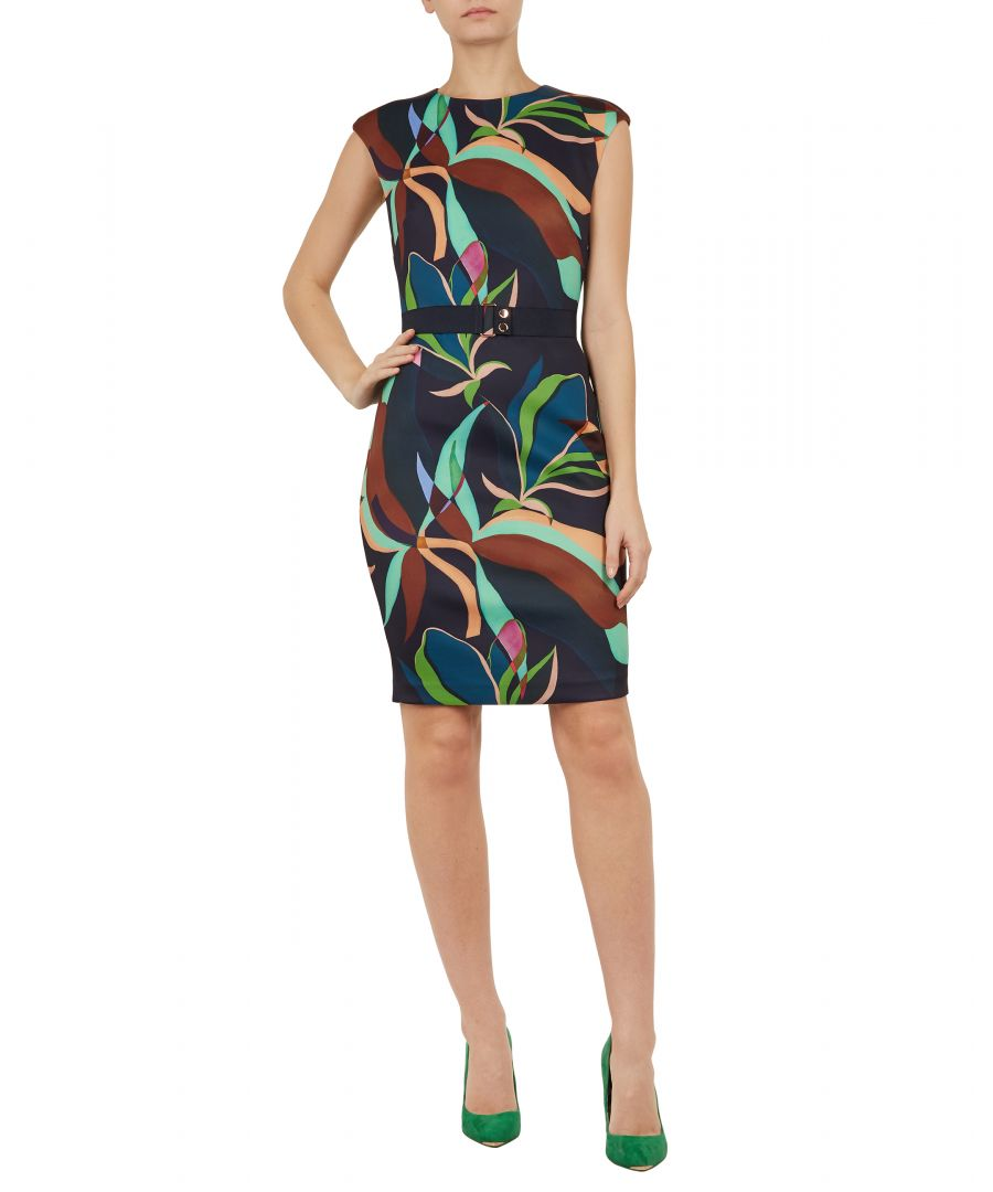 Image for Ted Baker Adilyyn Supernatural Structure Bodycon, Navy