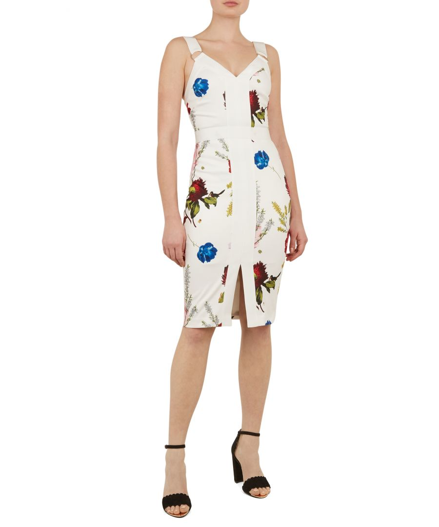 Image for Ted Baker Amylia Berry Sundae Bodycon Dress, White