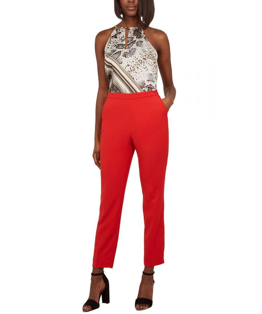 Image for Ted Baker Anitat Angular Tailored Trouser, Dark Orange