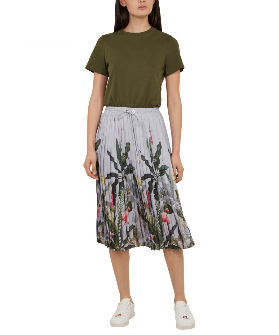 Image for Ted Baker Bobbyn Pistachio Pleated Midi Dress, Khaki