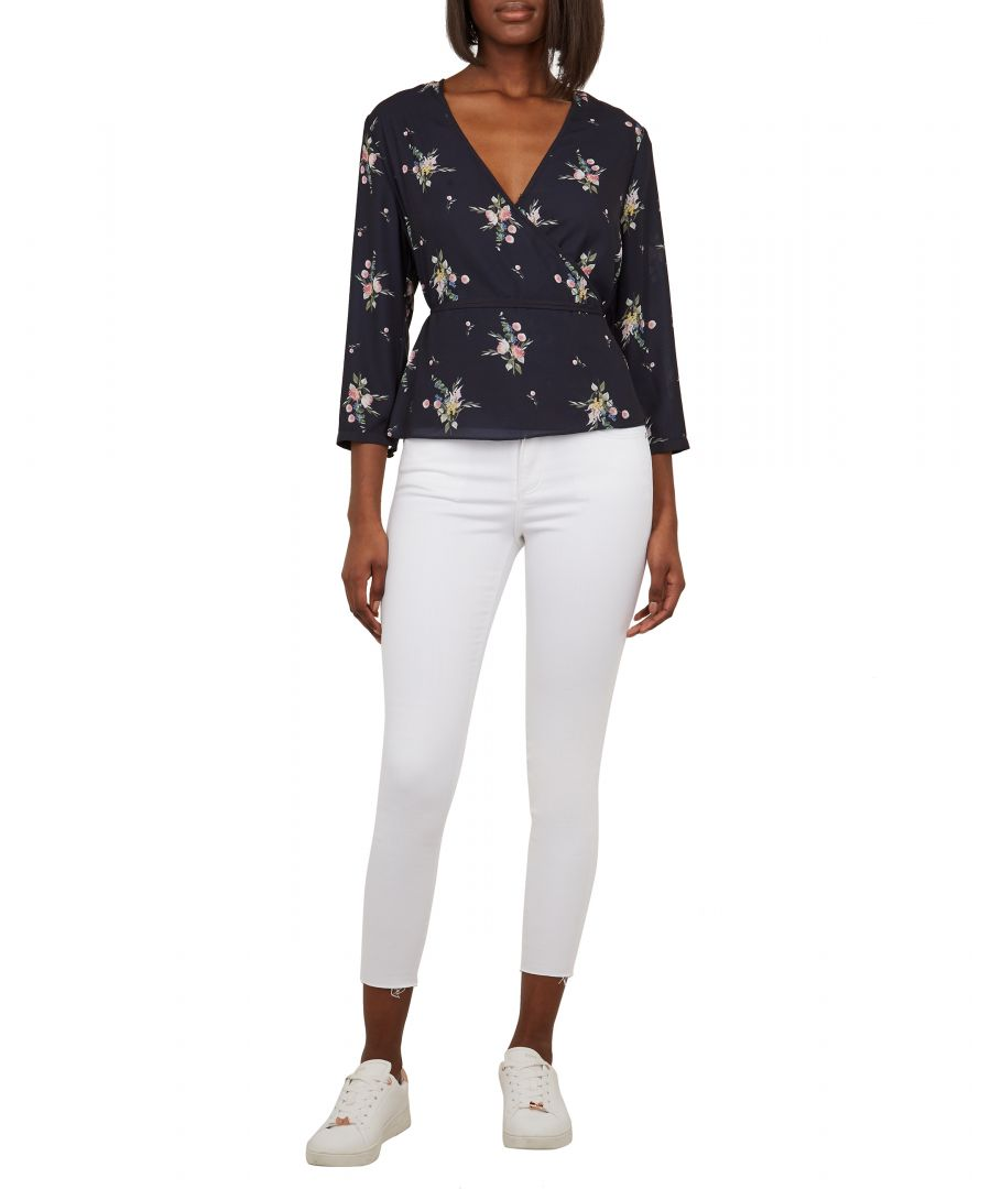 Image for Ted Baker Catarsi Uneven Raw Hem Skinny Jeans, White