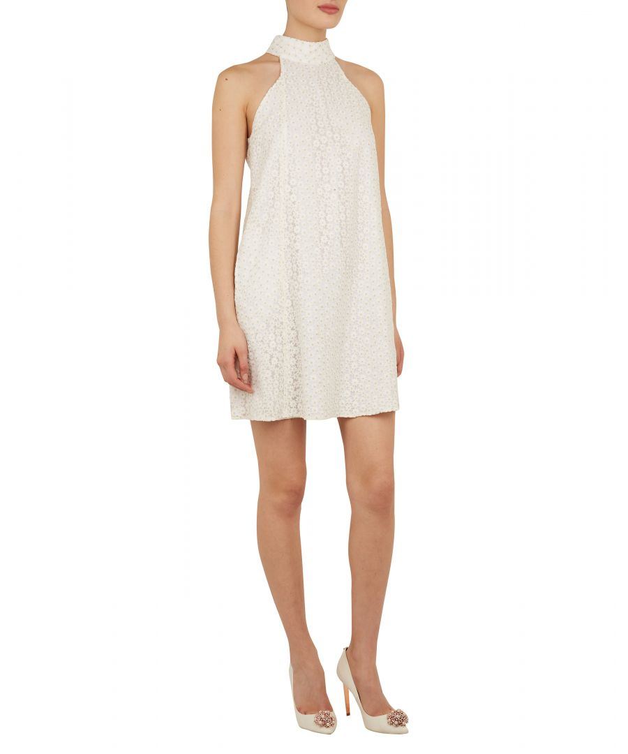 Image for Ted Baker Daysil Daisy Lace Halter Tunic, White