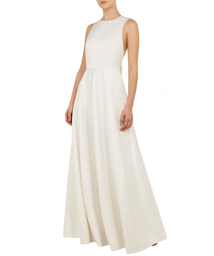 Image for Ted Baker Eschen Open Back Bow Maxi Dress, White