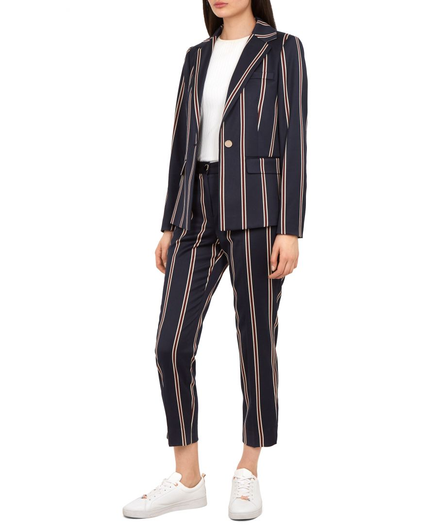 Image for Ted Baker Haryee Stripe Tailored Jacket, Navy