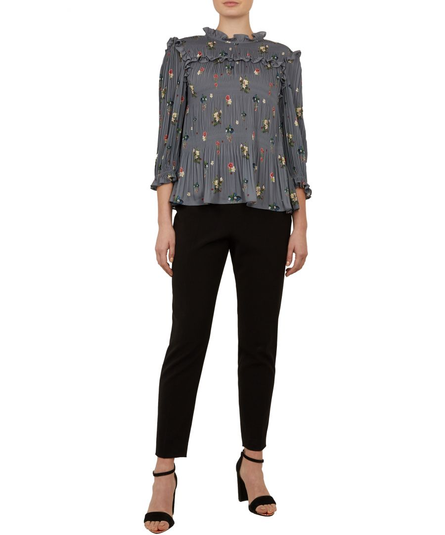 Image for Ted Baker Horili Oracle Pleated Top, Grey