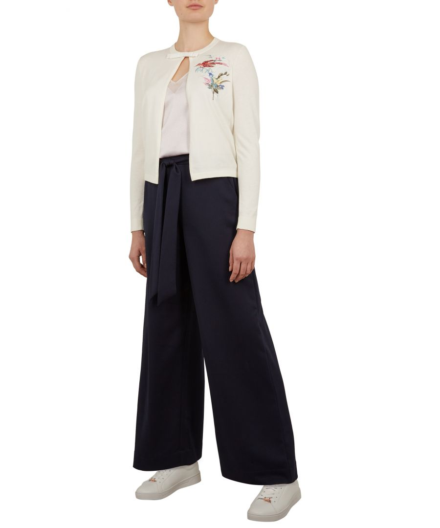Image for Ted Baker Inygen Fortune Embroidered Cardigan, Ivory