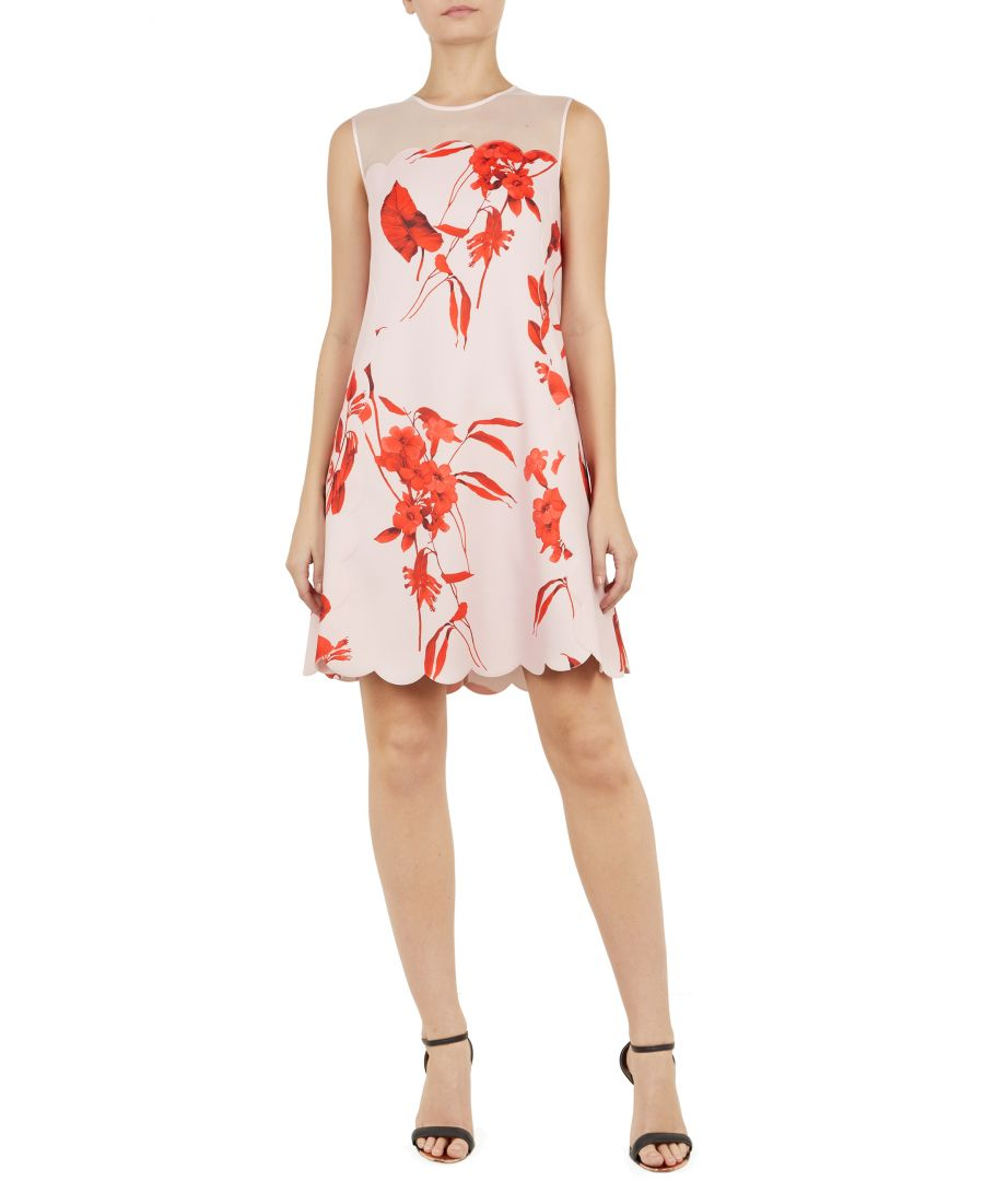Image for Ted Baker Jaazmin Fantasia Scallop Mini Dress, Pale Pink