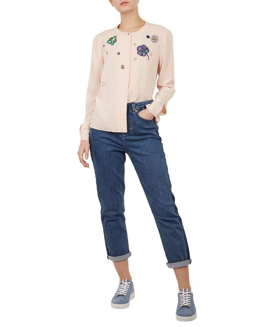 Image for Ted Baker Kaliona Cbn Embroidered Shirt, Nude Pink