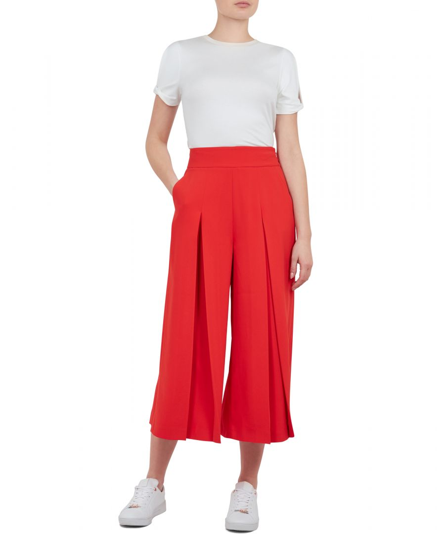 Image for Ted Baker Katiee Pleated Culotte, Dark Orange