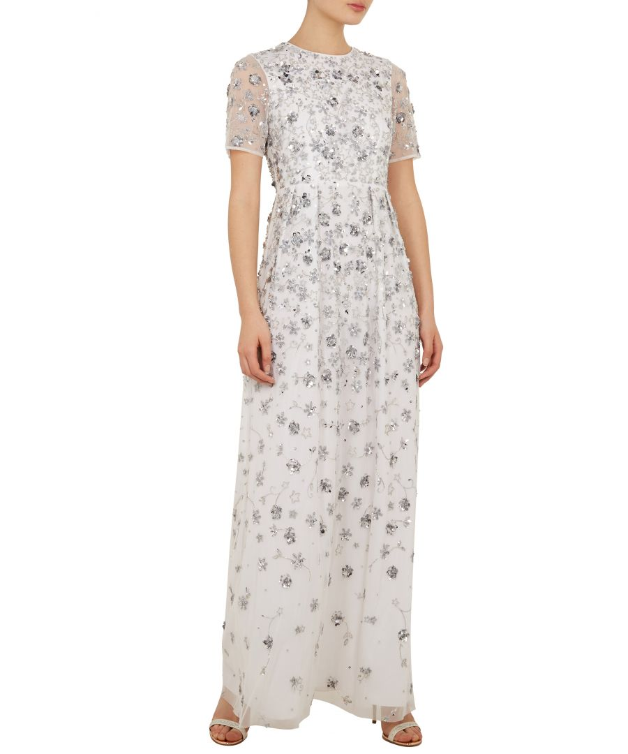 Image for Ted Baker Morgona Allover Embellished Maxi Dress, White