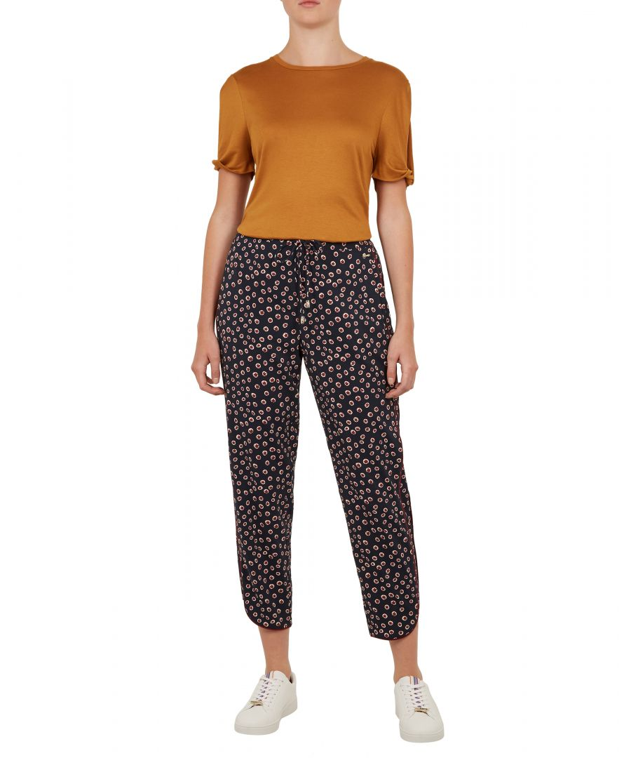 Image for Ted Baker Yolandi Floral Dot Print Joggers, Navy