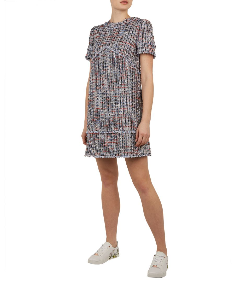 Image for Ted Baker Yulited Boucle Tunic Dress, Mid Blue