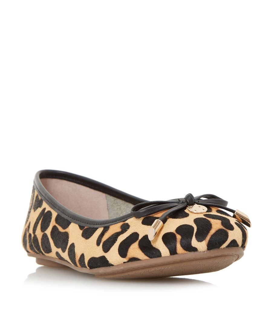 Image for Dune Ladies W HYPE Wide Fit Bow And Coin Trim Ballerina Shoe
