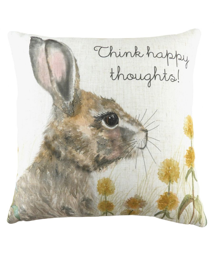Image for Woodland Hare Thoughts Cushion
