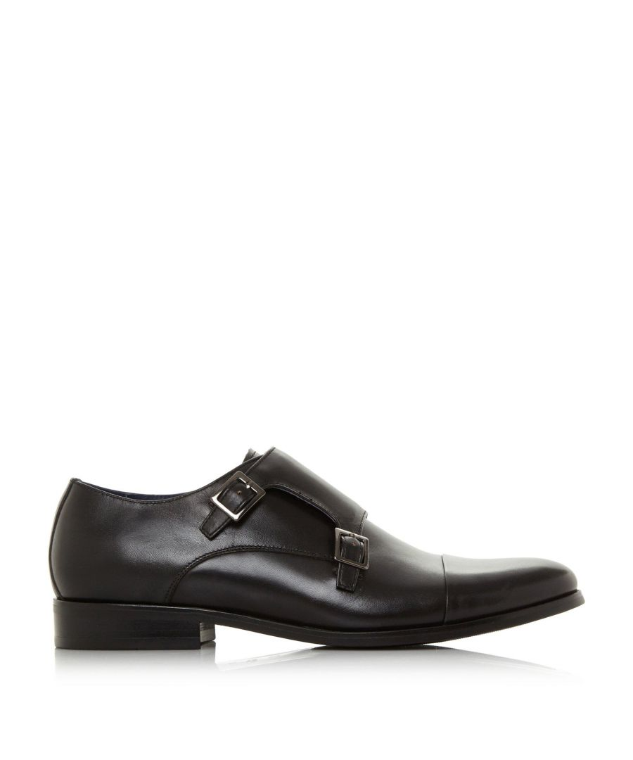 Image for Dune Mens WPIRES Wide Fit Double Buckle Monk Shoe