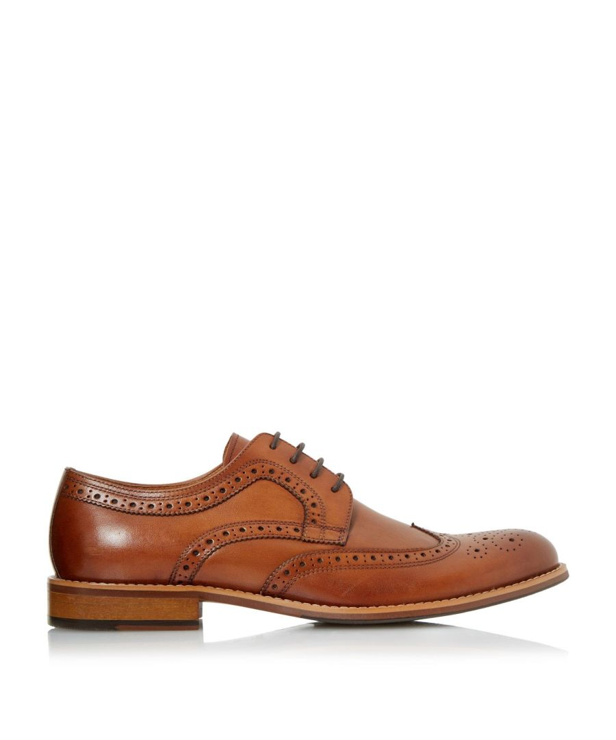 Image for Dune Mens WRADCLIFFE Wide Fit Derby Brogue Shoes