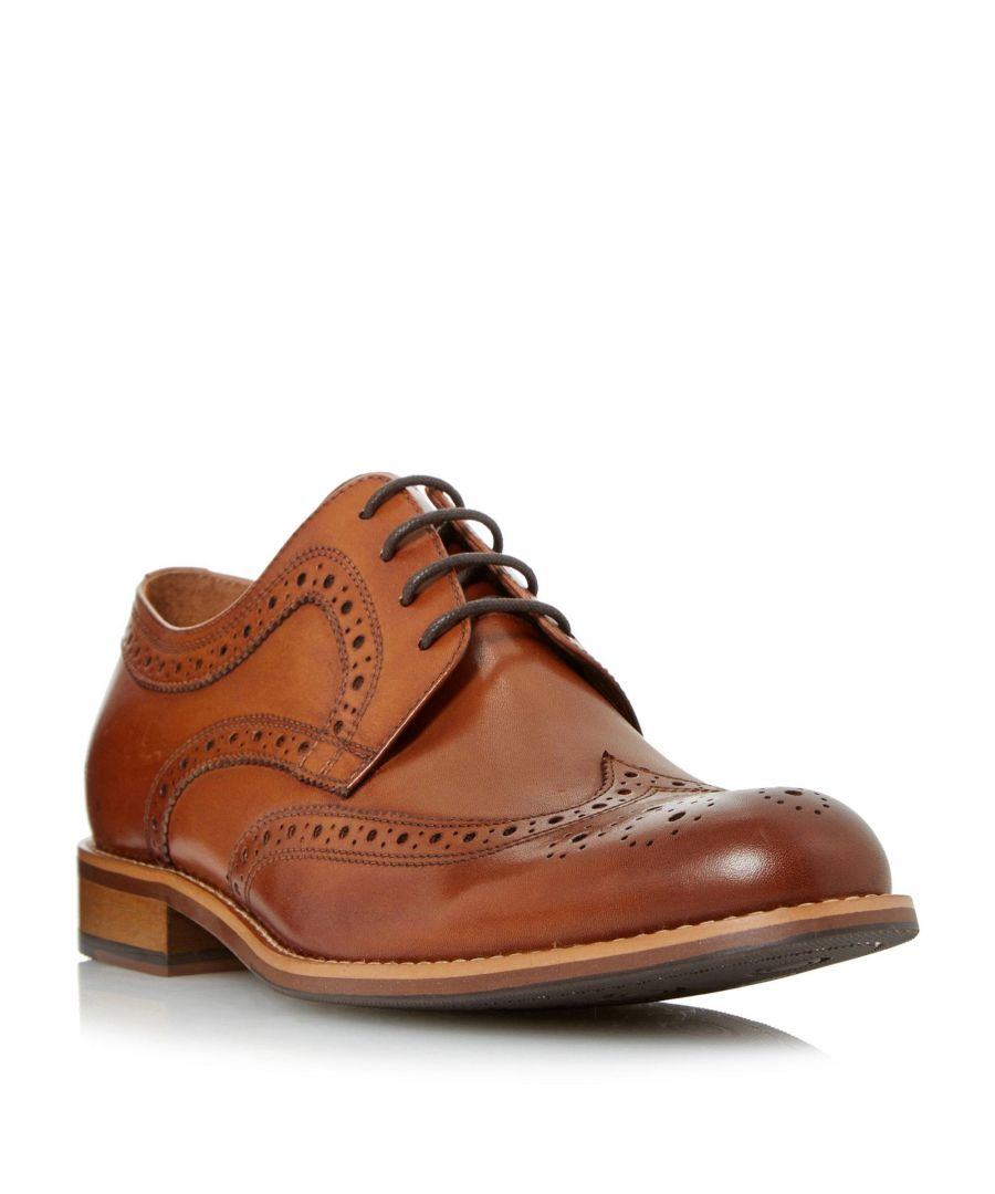 Image for Dune Mens WRADCLIFFE Wide Fit Derby Brogue Shoe