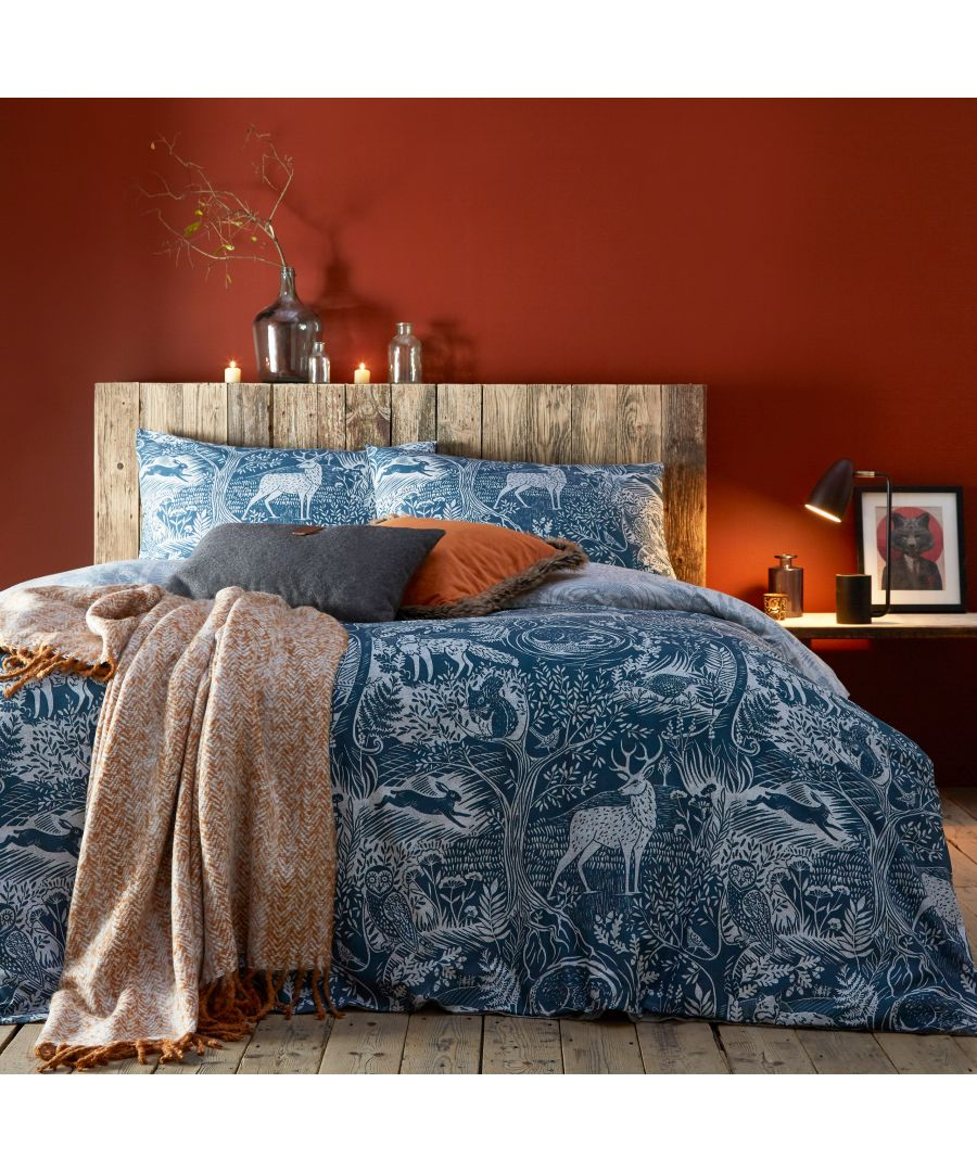 Image for Winter Woods Duvet Set Midnight