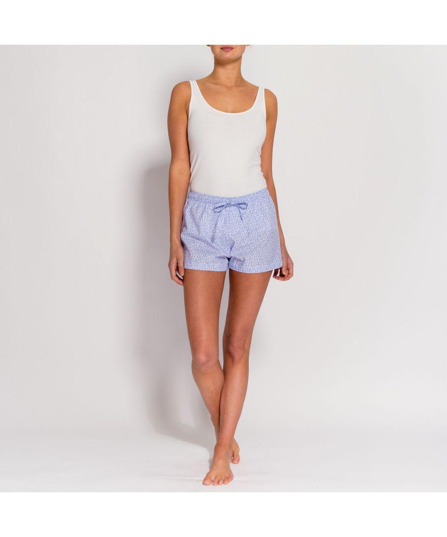 Image for British Boxers Women's White Paisley Pyjama Shorts