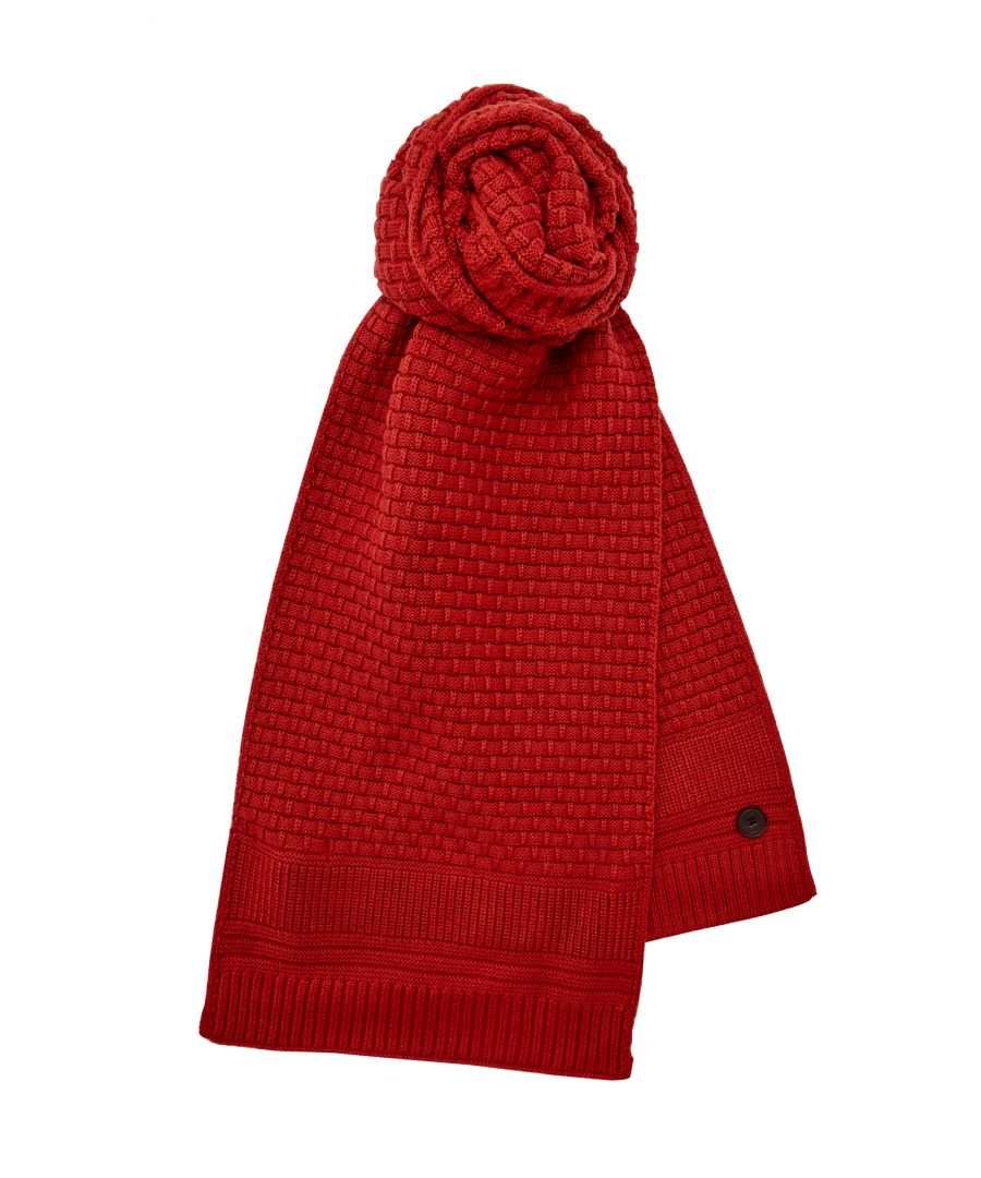 Image for Ted Baker Auscarf Textured Knit Scarf, Orange