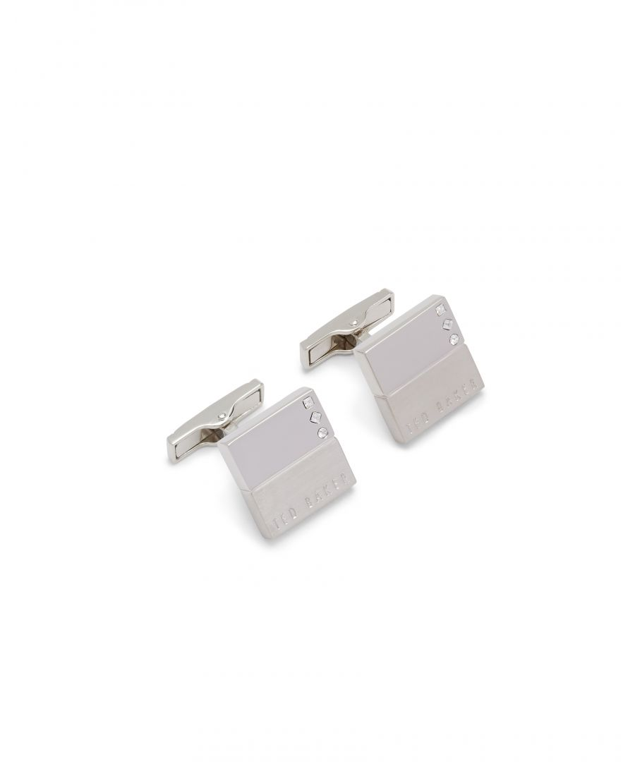Image for Ted Baker Cade Crystal Cufflinks, Silver