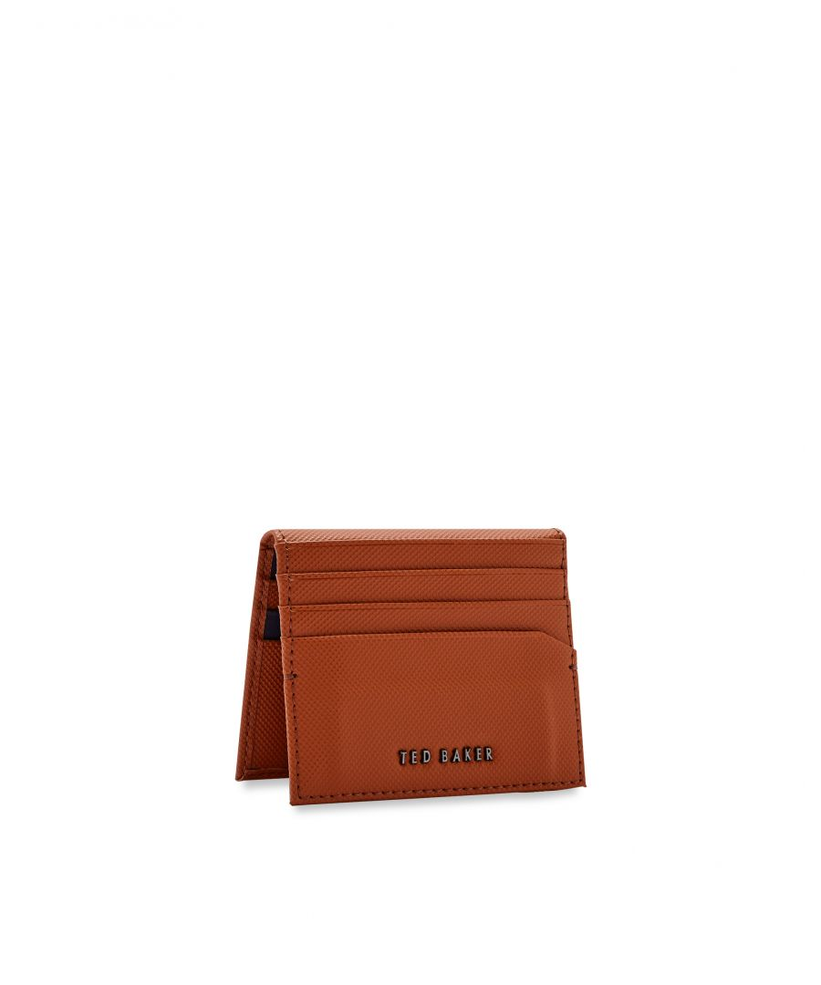 Image for Ted Baker Wonder Micro Perf Leather Card Holder, Tan