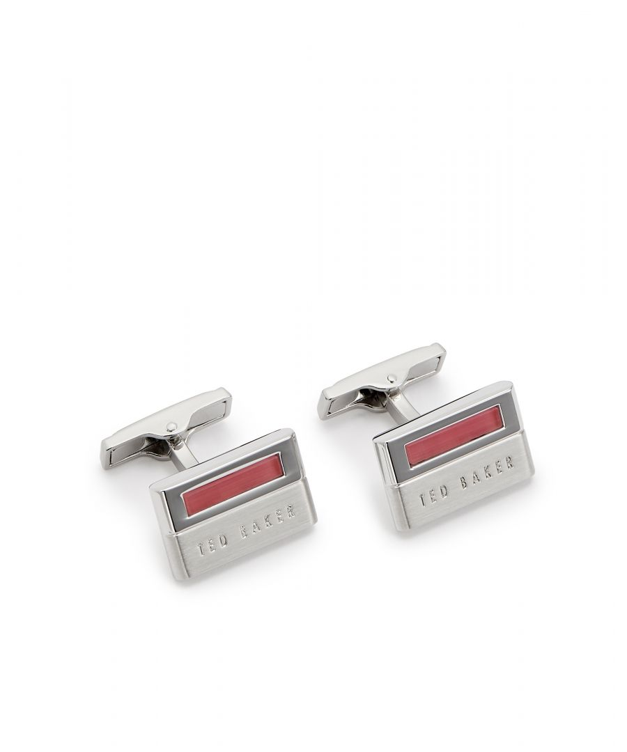 Image for Ted Baker Circle Semi-Precious Cufflinks, Pale Pink
