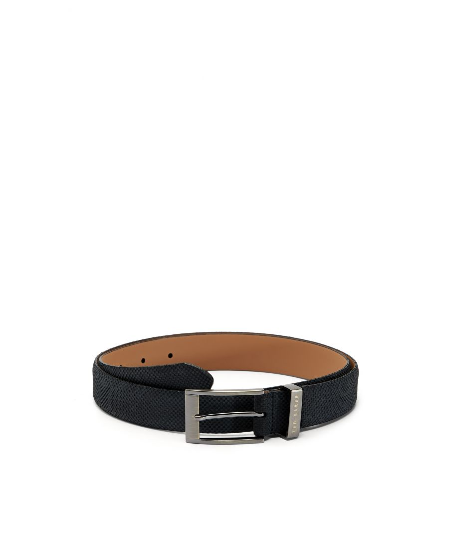 Image for Ted Baker Consway Carbon Fibre Suede Belt, Navy