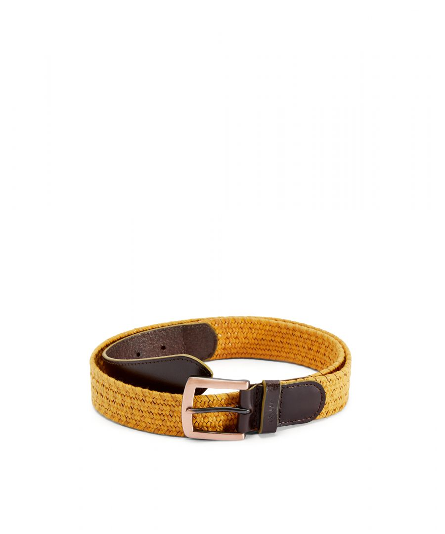 Image for Ted Baker Galan Leather Woven Belt, Mustard